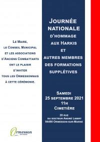 Journée nationale d'hommage aux Harkis et autres membres des formations supplétives